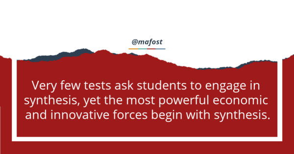 How do students engage in creativity and synthesis in schools?